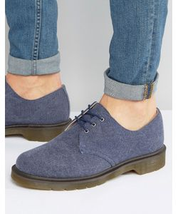 Dr. Martens | Выбеленные Парусиновые Туфли С 3 Парами Люверсов Dr Martens Lester