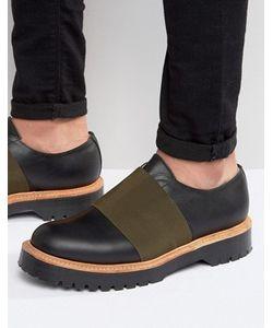 Asos | Изготовленные В Англии Черные Кожаные Туфли С Эластичными Вставками