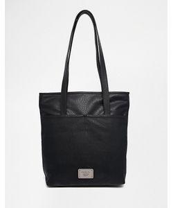 Marc b | Black Two Front Pocket Shoulder Bag