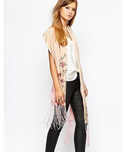 Moyna | Oversized Silk Tassel Scarf