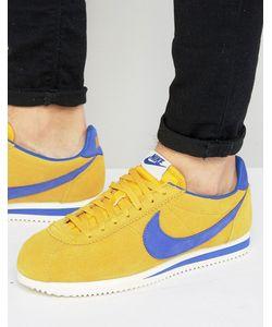 Nike | Желтые Кожаные Кроссовки Cortez 861535-700