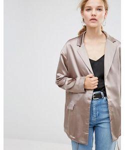 Asos | Атласная Куртка Со Шнурком На Кромке