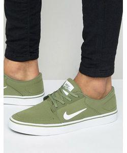 Nike SB | Зеленые Парусиновые Кроссовки Portmore 723874-311