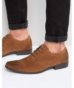 Asos | Коричневые Оксфордские Туфли Из Искусственной Замши