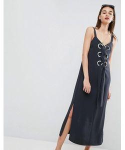Asos | Платье Макси С Люверсами