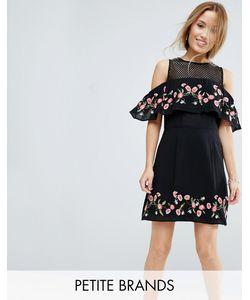 Miss Selfridge Petite | Платье С Открытыми Плечами И Цветочным Принтом