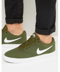 Nike SB | Зеленые Парусиновые Кроссовки Check Solar 843896-311
