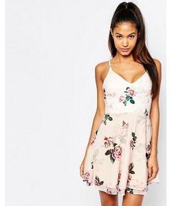 Lipsy | Чайное Платье На Бретельках С Розами Ariana Grande For