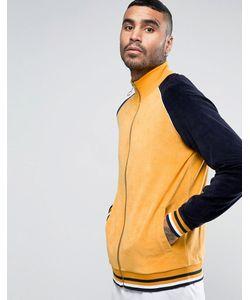 Asos | Велюровая Трикотажная Куртка С Контрастными Рукавами