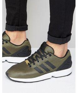 adidas Originals | Золотистые Кроссовки Zx Flux