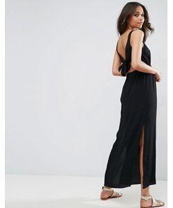 Asos | Платье Макси С Бантом И Открытой Спиной