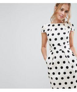 Closet London | Платье Миди В Горошек Closet