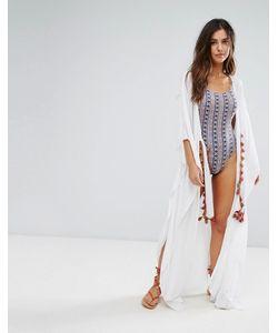 Anmol | Пляжное Платье С Запахом И Вышивкой