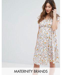 Bluebelle Maternity | Платье С Запахом И Цветочным Принтом Nursing