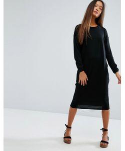 Asos | Платье Миди С Круглым Вырезом Горловины