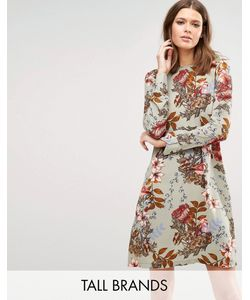 Y.A.S Tall | Ilvaley Long Sleeve Printed Dress