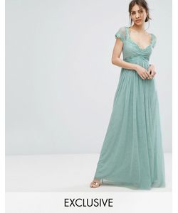 Little Mistress | Платье Макси С Завышенной Талией И Кружевной Отделкой