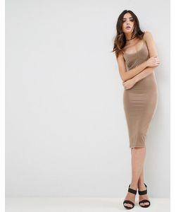 Asos | Облегающее Платье Миди На Бретелях