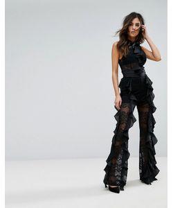 WOW Couture | Кружевной Комбинезон С Оборками