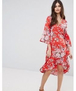 Vero Moda | Платье С Запахом И Цветочным Принтом