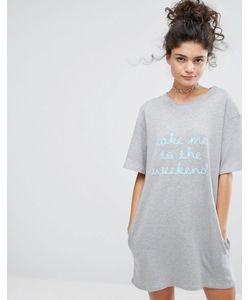 Adolescent Clothing | Платье-Футболка С Принтом Take Me To The Weekend