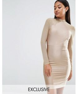 NaaNaa | Облегающее Платье С Сетчатыми Рукавами