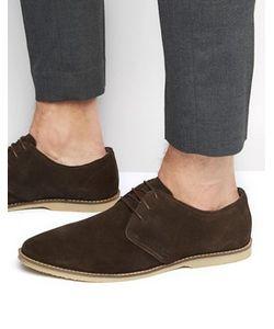 Asos | Коричневые Замшевые Туфли Дерби