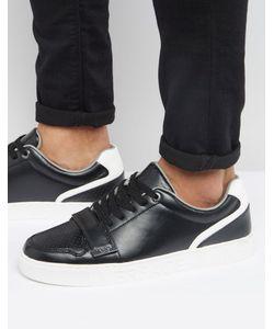 Versace | Черные Кроссовки С Ремешком Jeans