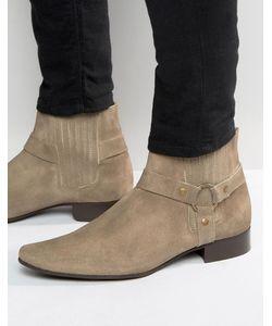 Asos | Замшевые Ботинки Челси С Острым Носом