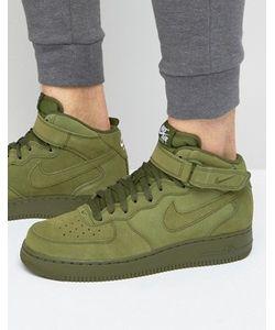 Nike | Зеленые Кроссовки Средней Высоты Air Force 1 315123-302