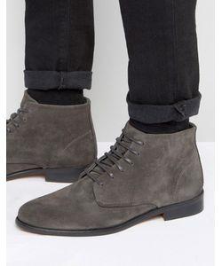 WALK London | Замшевые Ботинки На Шнуровке