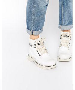 Cat   Белые Кожаные Ботинки Footwear Colorado Burnish Brights