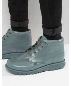 Kickers | Кожаные Высокие Ботинки Со Шнуровкой Kick