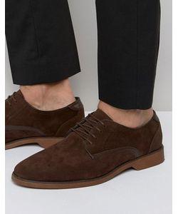 Asos | Коричневые Туфли Из Искусственной Замши На Шнуровке