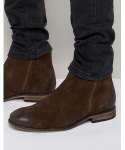 Asos | Замшевые Ботинки Челси С Двумя Молниями