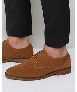 Asos | Светло-Коричневые Туфли Из Искусственной Замши На Шнуровке