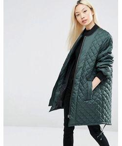 Asos | Удлиненная Стеганая Куртка