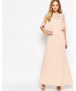 Asos | Платье Макси С Рукавами-Бабочками И Декоративной Отделкой