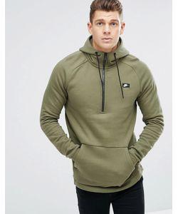 Nike | Худи Зеленого Цвета С Короткой Молнией Modern 885969-222