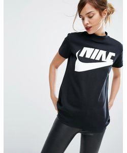 Nike | Длинный Топ С Высоким Воротом