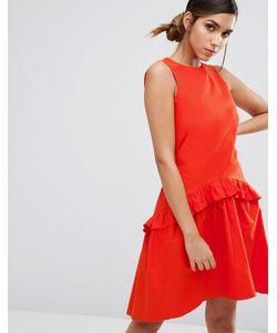Closet London | Платье С Заниженной Талией И Рюшами