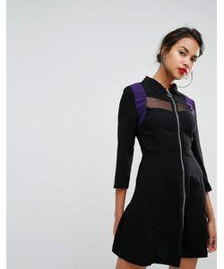 Morgan | Платье С Молнией И Сетчатыми Вставками