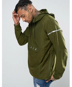 Nike | Худи Через Голову С Логотипом Зеленого Цвета Air 832156-331