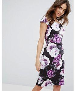Wal G | Платье-Футляр С Цветочным Принтом И Открытыми Плечами