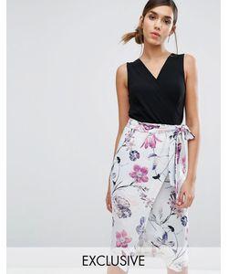 Closet London | Платье Миди 2 В 1 С Цветочным Принтом