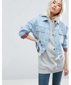Asos | Джинсовая Куртка На Подкладке В Клетку