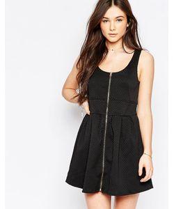 Wal G | Короткое Приталенное Платье На Молнии Спереди
