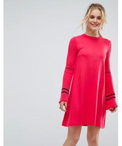 Asos | Трикотажное Платье С Расклешенными Рукавами И Отделкой