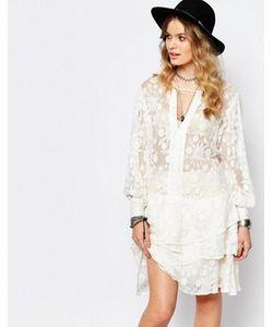 Stevie May | Белое Ярусное Платье Мини Dignity
