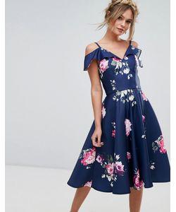 Chi Chi London | Платье Миди С Оборкой